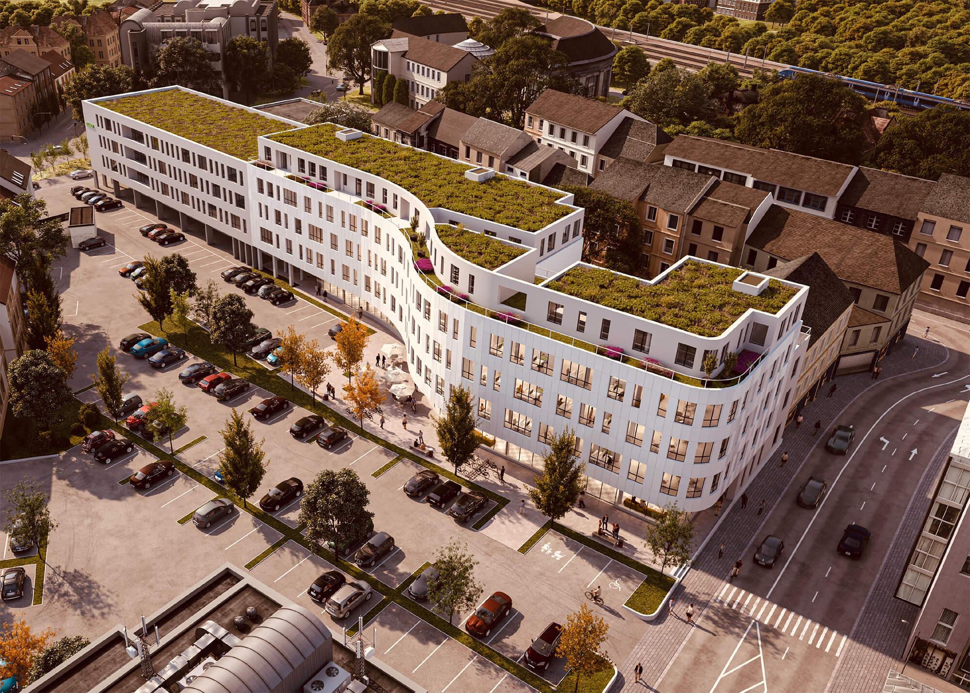 Konzeptfoto zum Bau Neue Mitte Merzig