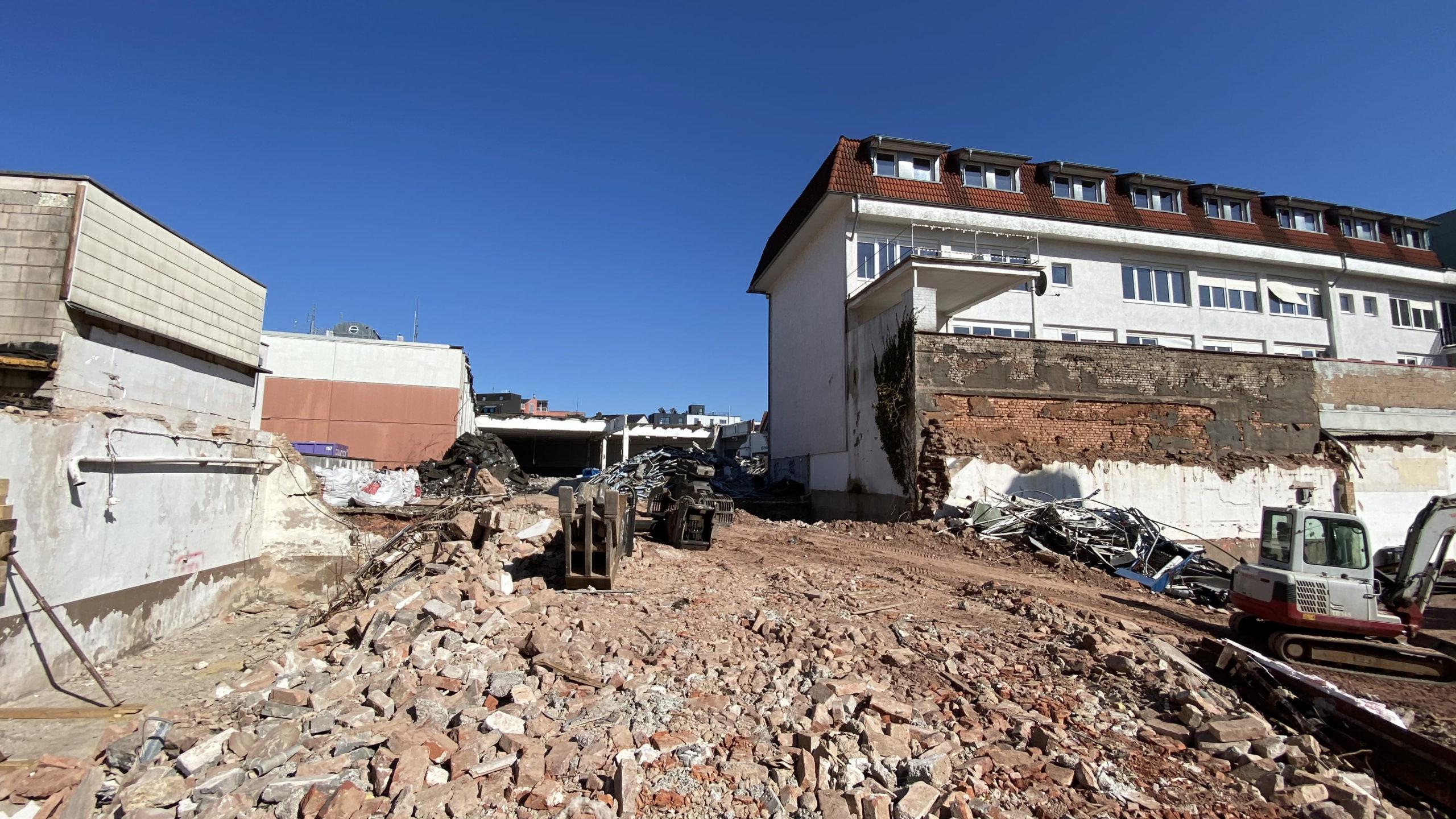 Bild zum Baufortschritt der Neuen Mitte Merzig